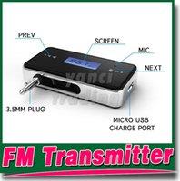 Wholesale Wireless mm Car FM Transmitter Radio For iPod iPad iPhone plus S Galaxy S5 S2 S3 HTC Computer Audio Car FM Transmitter