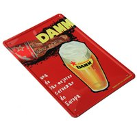 Tin New Year New Home Decor Tin Poster Metal Plaque Pub Bar Wall Art Supplies Beer Cup Shape