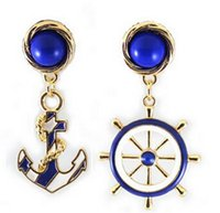 anchor earring studs - Fashion Style Navy Anchor Personality Stud Earrings Women Earings Jewelery Chandelier Charms Earings Perfect Gift AF233