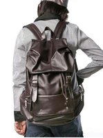Sacs à dos en cuir pour hommes en gros, sac à dos en cuir PU vintage, sacs à bandoulière rétro, sacs de voyage en cuir de haute qualité A25