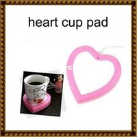 Wholesale Hot selling USB computer Gadgets cute love heart shaped Vacuum Cup Pad Electric Heating Mat Heated Coasters Dish Pink JJ0014 toycity