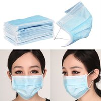 anti germ - 50 Medical Surgical Disposable Face Masks Disposable Use Blue Face masks Anti dust Germ Non woven Fabrics Face YC0003 salebags