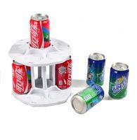 Wholesale White Rotating Coke Can Rack Kitchen Organizer Bottle Shelf Cabinet Tier Spining Coke Holder order lt no track