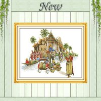 ambiance decor - Thai ambiance elephant decor painting counted print on canvas DMC CT CT Chinese Cross Stitch kits needlework embroidery Sets