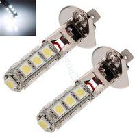 Wholesale Big Promotion H1 High Power SMD LED White Car Auto Headlight Fog Head Lights Lamp Bulb DC12V