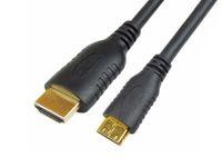 Wholesale 1 m Conputer Cables Mini HDMI to HDMI High Density Tinned Copper Wire Braid Shield Computer Connectors Line HD011