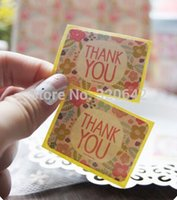 Wholesale promotion Japan flower Thank You Sticker envelope wedding favors invitations seal stickers gift packaging stickers