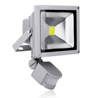 Wholesale Taiwan Epistar Chip W LED Flood Light with PIR Motion sensor AC V Home Garden Security Outdoor Lamp