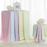 Wholesale Jacquard Durable Beach Towel Shower Towel x70cm Bath Towel Bamboo Microfiber Super Absorbent Home Textile Hair Drying Washcloth Colors