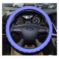 auto ergonomics - New Candy Ergonomics Universal CM Car Styling Antiskid Silicone Steering Wheel Cover High Quality Elasticity Auto Cover H F07