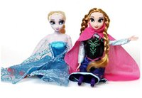 Cheap 2016 Real Unisex Plastic Silicone Reborn Baby Dolls Retail 2pcs set for Frozen Plush Toys New Princess Elsa Anna Doll Brinquedos Kids Dolls