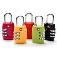 Wholesale TSA Luggage Strap Locks Digit Plastic Alloy Lock Password Customs Luggage Padlock Combination Suitcase Padlock Luggage Travel Lock