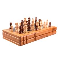 Cheap Eco-friendly New Book style Standard Bamboo international chess board with chess pieces
