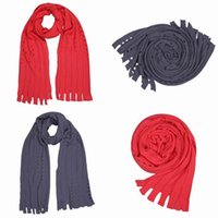 Wholesale Hot Selling Wool Knitting Scarf Wraps Shawls Neckerchief With Tassel Decorate For Christmas Warm Winter ELF