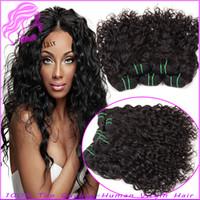 Wholesale 8a Unprocessed Virgin Hair Brazilian Hair Piece Bundles Natural Wave Brazilian Weave Hair Weft Weaves Natural Black By dhl