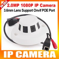indoor mini dome ip camera - 1080P MP HD Smoke Detector Style IP Camera With POE Mini Hidden Web indoor Dome Camera Support iPhone Android Phone Browse Onvif P2P