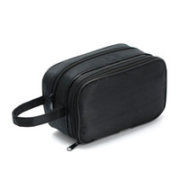 best men cosmetics - Best Deal New Good Quality Double Outdoor Travel Cosmetic Bag Men And Women Hand Carry Pouch Wash Bag Gift for Beauty PC