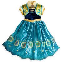 beaded lanterns - Frozen Anna Girls Princess Dresses Fashion Performance Kids Party Dress Good Quality Big Children DressesTR141