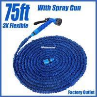 x hose - 1509 Functional ft Magic Flexible X Garden Water Hose With Spray Gun Car Wash Pipe Retractable Watering Telescopic Rubber Hose