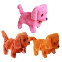 Wholesale New Kids Toys Battery Plush Walking Barking Electronic Dog Toy Educational Toys Color Brown Yellow Pink