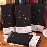 journal and notebook - Korean Creative Gift Fashion Star Horoscope Notebook Black Hardcover Notebooks And Journals Sheets