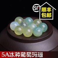 Wholesale A ice grape agate bead grape stone crystal bracelet DIY jewelry accessories