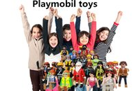 Wholesale Good quality Playmobil toys juguetes Set Pieces Knights figures random castle child plastic model kit Toys