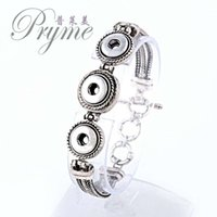 beaded jewelry patterns - Popular fashion elegant embossment pattern snap jewelry bangle charm bracelet fit snap alloy button for women