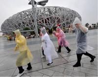 Wholesale Hot Sale One time Raincoats Mix Color Disposable PE Poncho Travel Rian Coat Rain Wear S25156