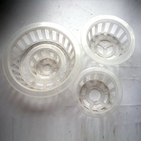 plastic basin - freeshipping Planting basket SIZE MM IN BLACK just baskets no glass flower pot hydroponics plastic net basin