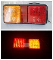 Left truck parts - E mark paia hot v led trailer truck rear lights LED taillights trailer parts trailer lamps stop tail reverse indi