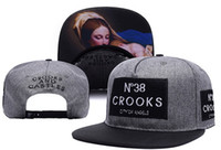 snapback - Crooks and castles snapback hiphop hip hop hat male hiphop hat female Crooks Castles snapback cap