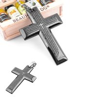 bible stainless steel - S5Q Mens Womens necklace Gift Stainless Steel Cross Pendant Bible Necklace Chain Sweater Unisex AAAEGE