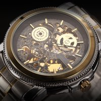 steampunk watches - Luxury KS Royal Carving Skeleton Steampunk Automatic Mechanical Golden Stainless Full Steel Dress Business mens watches for men KS138
