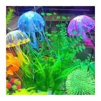 Wholesale Fish Tank Aquarium Decoration Artificial Glowing Jellyfish For Aquarium Fish Jar Box Ornament New Arrival