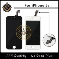 Wholesale Top Quality LCD Screen Display With Touch Screen Digitizer Assembly For iPhone S C Pantalla Black White Free DHL Ship