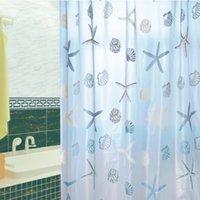 bathroom shower window - Cute Starfish Pattern PEVA Waterproof Mould proof Bathroom Shower Curtain Door Curtain Window Curtain with Hooks