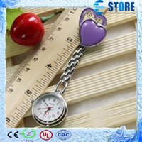 Wholesale Chest Pocket Watch Nurse Table Cute Sweet Heart Quartz with Clip Medical Watch Nurse Pocket Watch wu