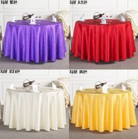 Wholesale New Table Cloth Round Overlays Tablecloths Spandex Tablecloth Wedding High Quality Round Waterproof Colors Red Yellow Ivory Wine Purple
