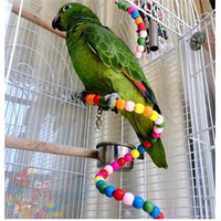 Wholesale Colorful Parrot Rotating Ladder Parrot Standing Rope Pet Bird Parrot Cage Macaw Cockatoo Cockatiel Conure Rotating Staircase