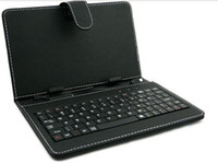 7'' arabic keyboard ipad - Hot Sale quot quot quot quot Leather case keyboard with Russian Portuguese Arabic Italian German English ect USB HOST USB Micro
