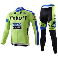 Wholesale New tinkoff saxo bank High quality autumn winter Cycling Jersey cycling clothes Cycling long Sleeve clothes Bicycle Jersey Ciclismo