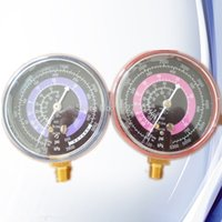 Wholesale Set of A C AC Air Conditioner R12 R134a R134A Dual Refrigerant Freon Pressure Gauge Replacement High Side Low Side PSI KPA order lt no t