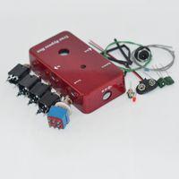 Looper PB-N1160 / 1590B DIY Pedales de guitarra, Pedales de aluminio ROJA Pedal Pedal Switch Rojo / Verde LED Interfaz Solder