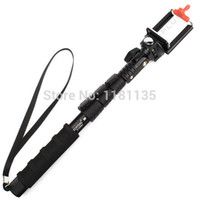 Wholesale Extendable Self portrait Handheld Monopod Tripod Mount Adapter Holder for Camera Cell Phones