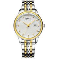 eyki - EYKI New Luxury Men Watch Stainless Steel Casual Business Watch Analog With Date Display Quartz Couple Watches