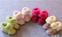 Wholesale 2014 Winter New Baby Childs Warm girl Genuine leather bowknot winter boot