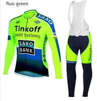 ak china - 2015 Tinkoff saxo bank cycling jersey fluo green cycling clothing mountain bike jersey wear cycling clothes China sport jersey bicycle AK