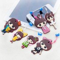 Wholesale C278 Korean cute dust plug phone pendant pendants with screen wipe cartoon