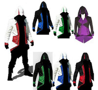 Wholesale Hot Sale Assassins Creed III Conner Kenway Hoodie Coat Jacket Cosplay Costume free drop shipping